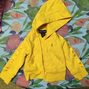 Infants Ralph Lauren Yellow Hoodie